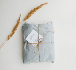 A wrapped beauty gift package