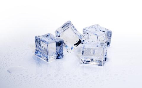 Blocks of ice cubes