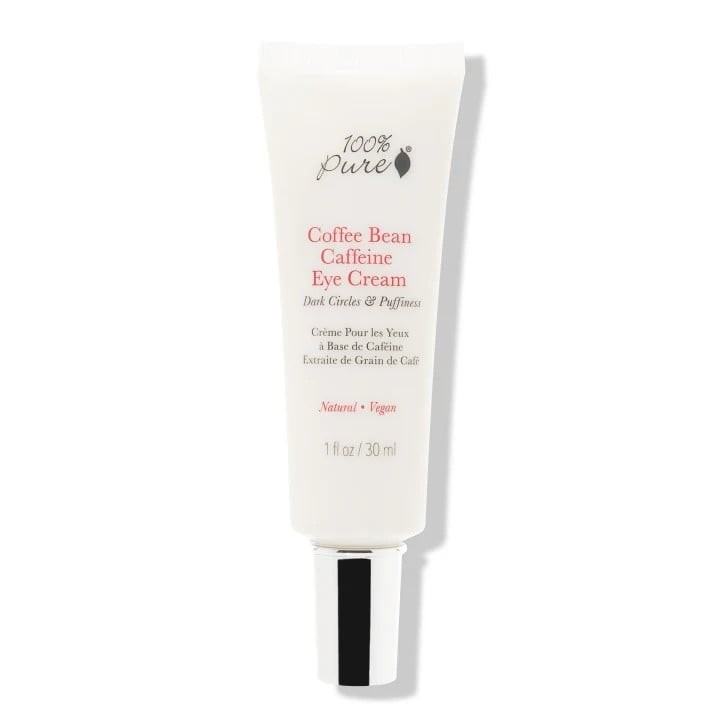 100percentpure coffee bean caffeine eye cream, perfect for dark circles and eye bags.