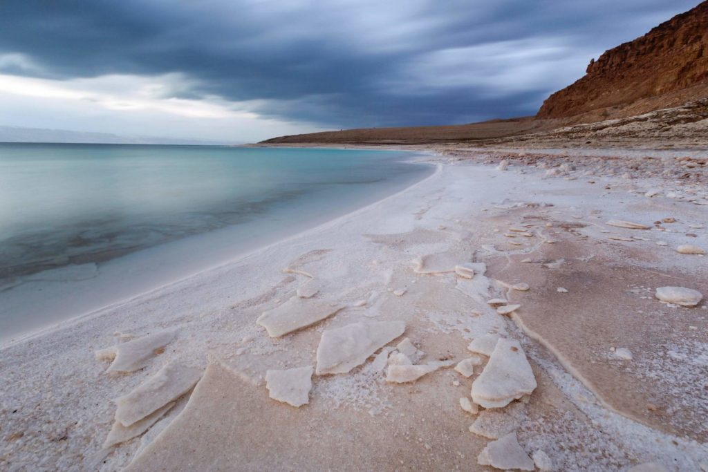Sea salt near the sea