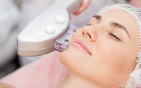 a woman having Laser Skin Tightening.