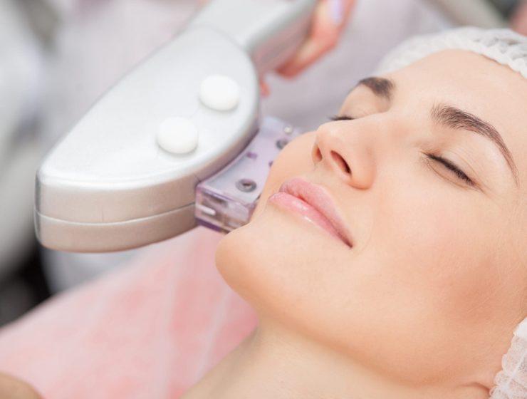 a woman having Laser Skin Tightening.