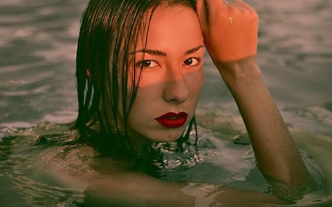 Imgae of woman in water