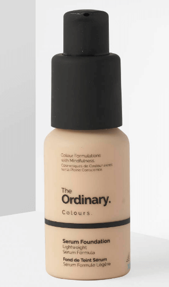 A Picture Of The Ordinary Serum Foundation Bottle On a White Background