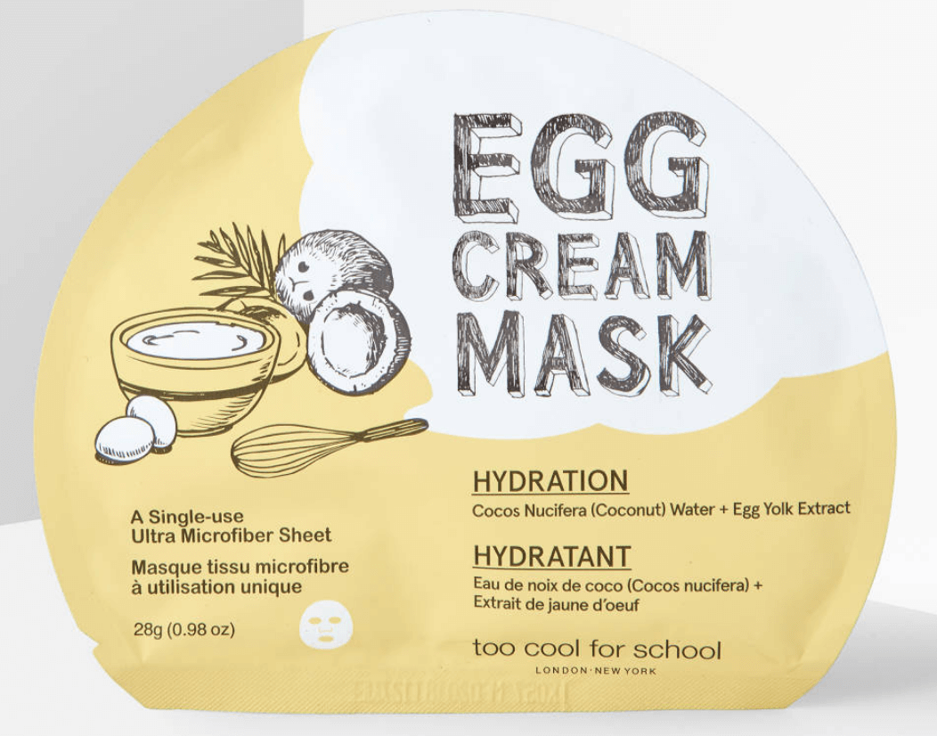 Too Cool For School Egg Cream Mask For Hydration