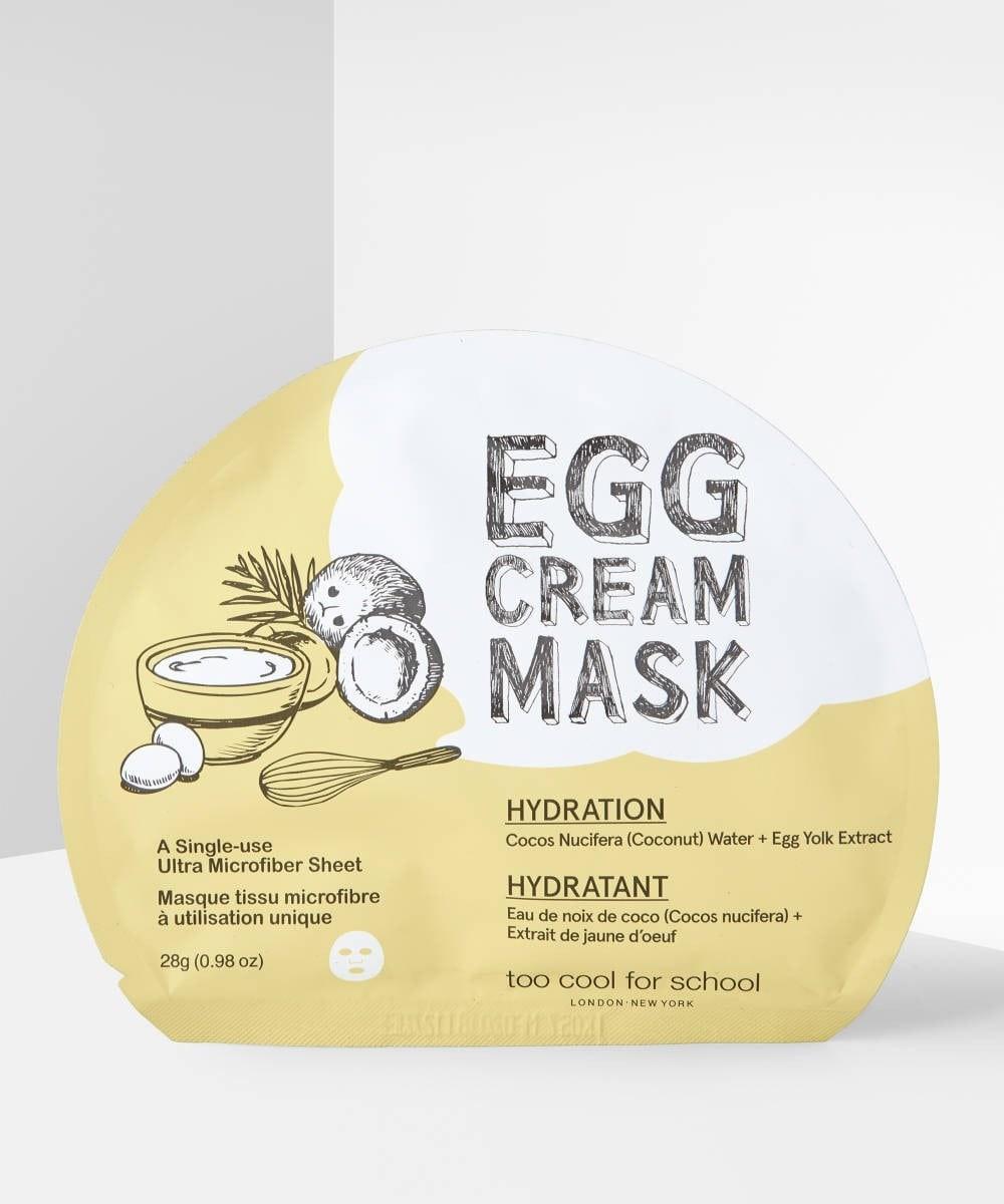 Egg Face Masks: Egg Cream Mask for Hydration.