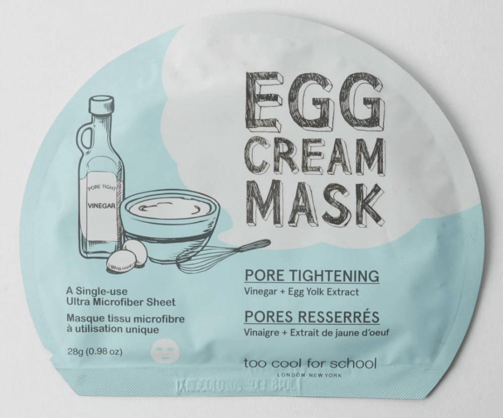 egg cream mask for pore tightening.