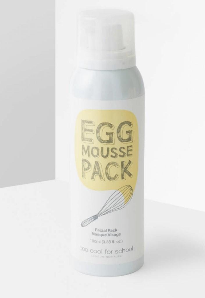 Egg Face Masks: egg mousse pack bottle container.