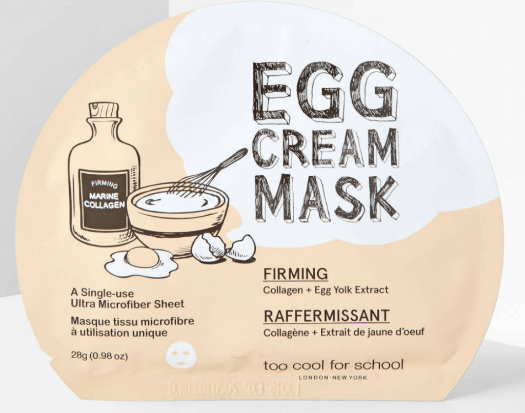 k beauty egg firming mask