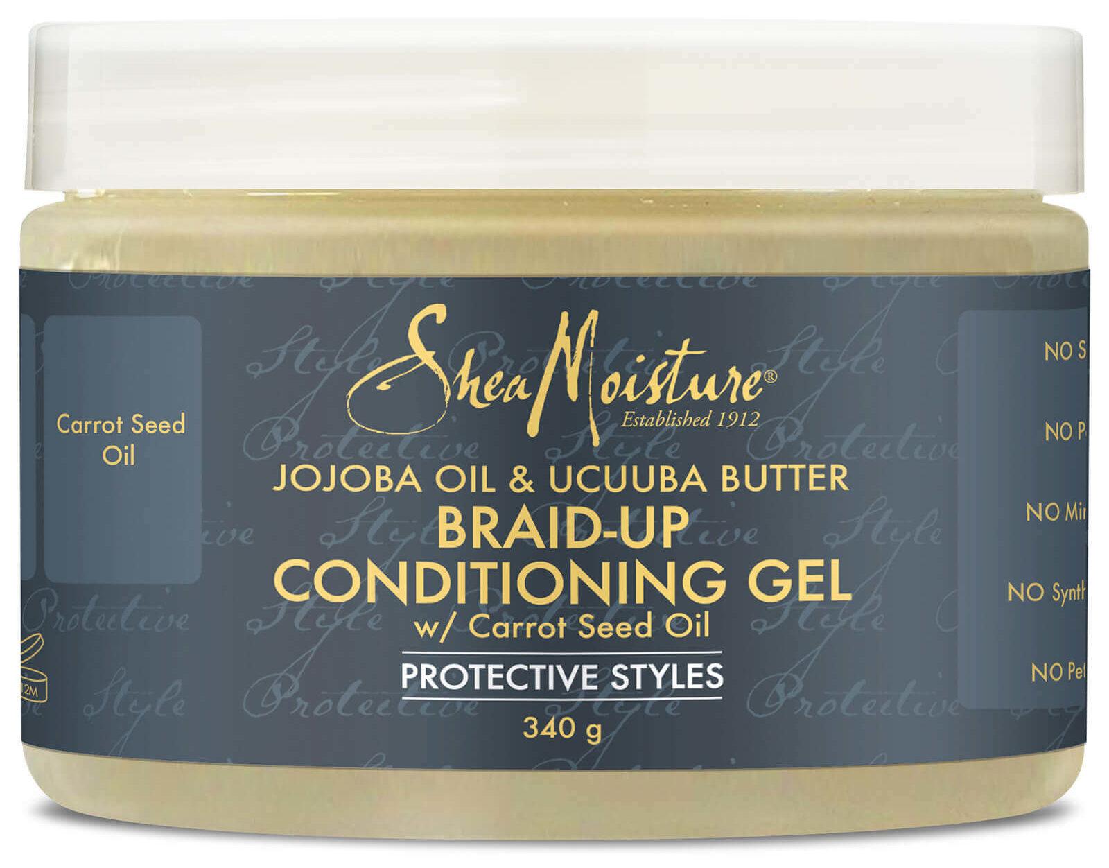 Shea Moisturiser JoJoba Oil and Ucuuba Butter Braid Up Conditioning Gel.